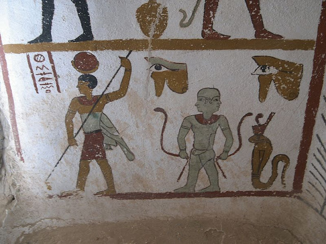 Paintings from the tomb of Sadosiris