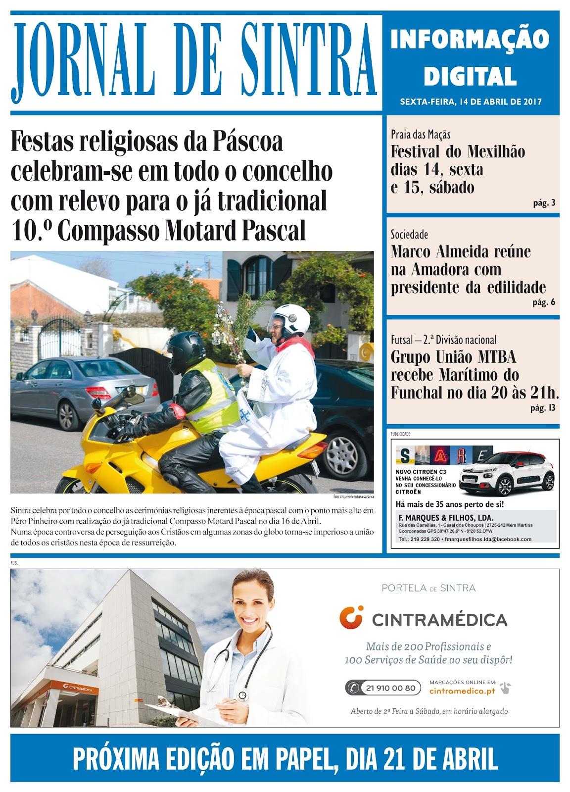 Capa da edição de 14-04-2017