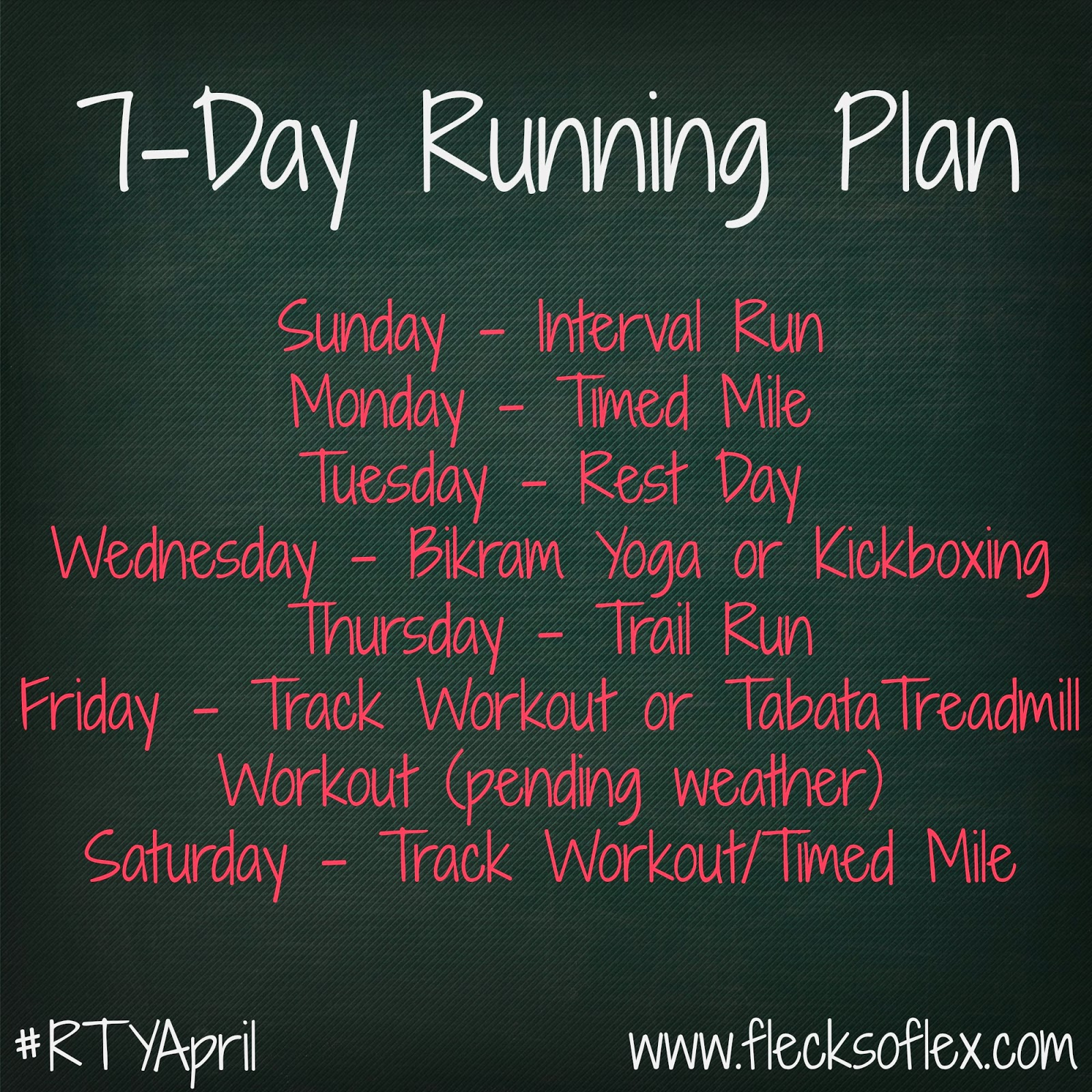 7-day running plan