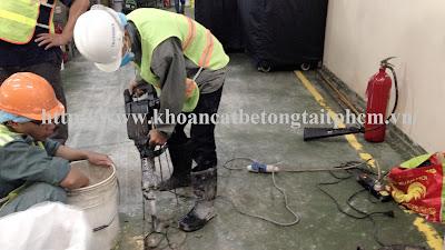 Khoan cắt bê tông tại huyện Trảng Bàng