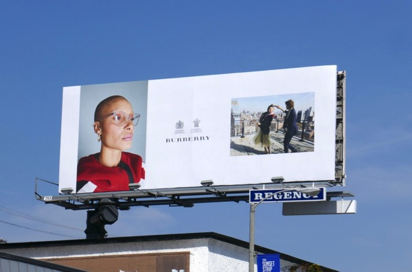 Burberry eyewear S18 billboard