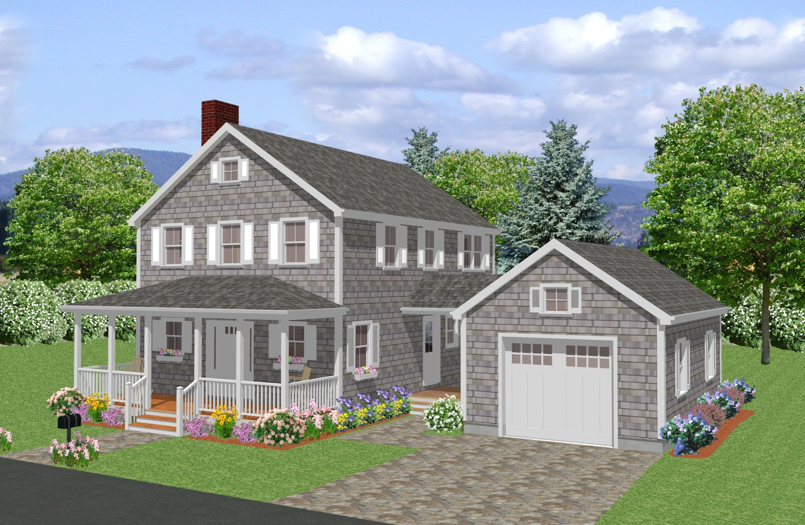 New England Colonial House Plans