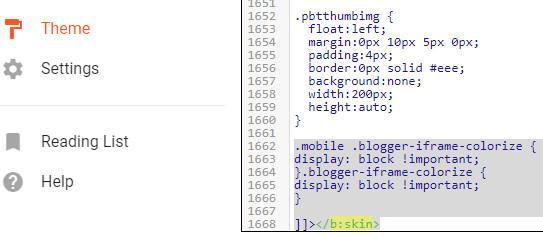 Kolom Komentar Tidak Muncul di Tampilan Mobile Blog