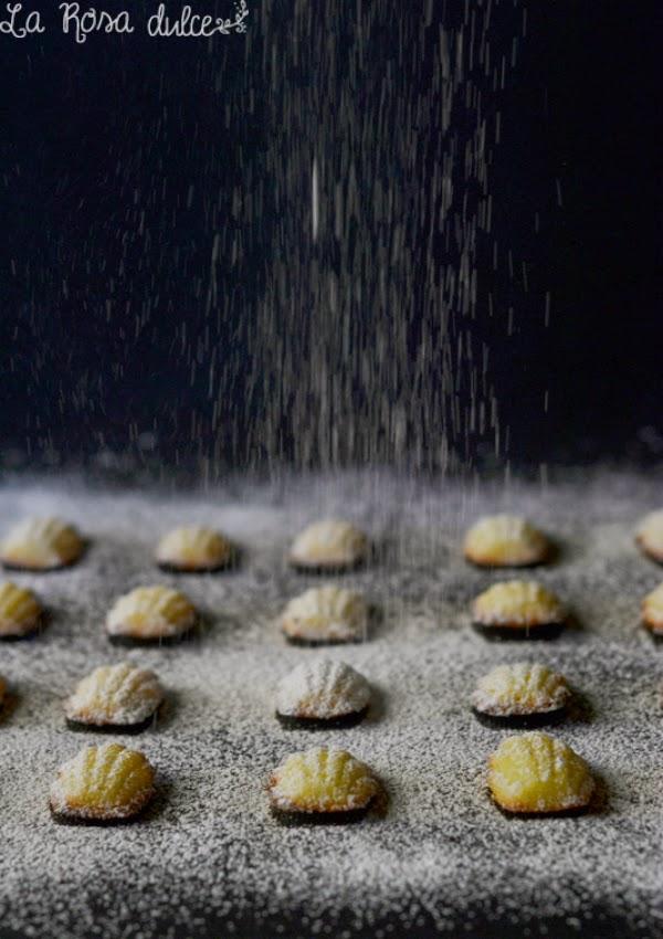 MIni madeleins de naranja sin lactosa