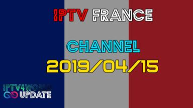 IPTV French M3U Gratuit Iptv4world 15/042019