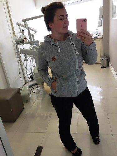 Blusa de Frio Moletom Feminina com Capuz - Várias Cores