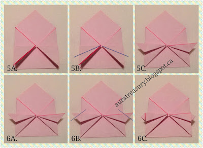 DIY origami valentine's pop-up card