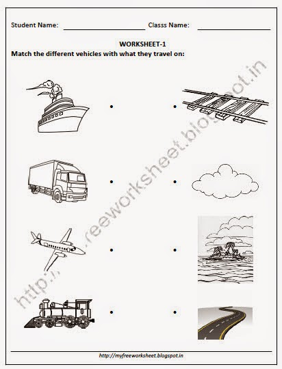 PDF for Nursery EVS Match the different vehicles with what ...