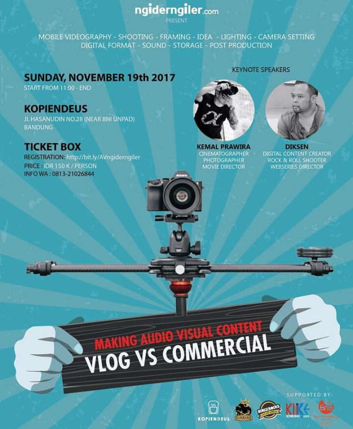 "HTM Audio Visual Workshop ""Vlog vs Commercial"""