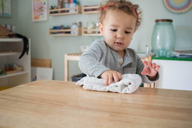 A look at a toddler friendly cleaning area in our Montessori home. Plus some ideas on what to include and how your toddler can clean