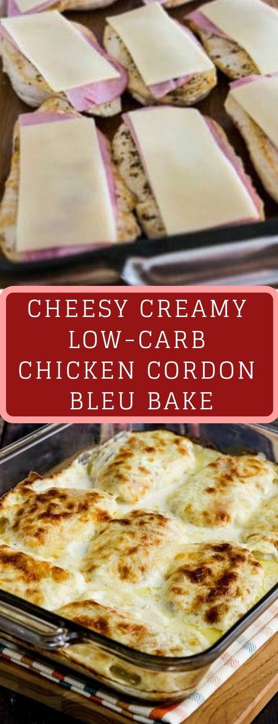 Cheesy Creamy Low Carb Chicken Cordon Bleu Bake