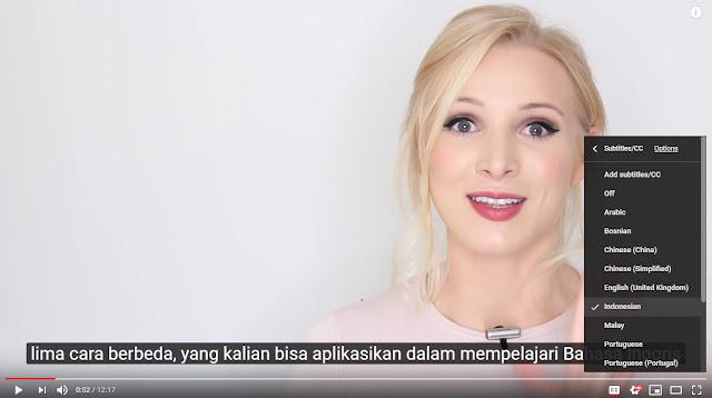 Cara Mengaktifkan Subtitle Bahasa Indonesia