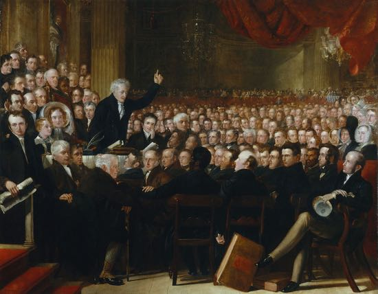 The Anti-Slavery Society Convention, 1840 by Benjamin Robert Haydon (died 1846) Given to the National Portrait Gallery, London in 1880 by the British and Foreign Anti-Slavery Society Image from Wikimedia Commons.