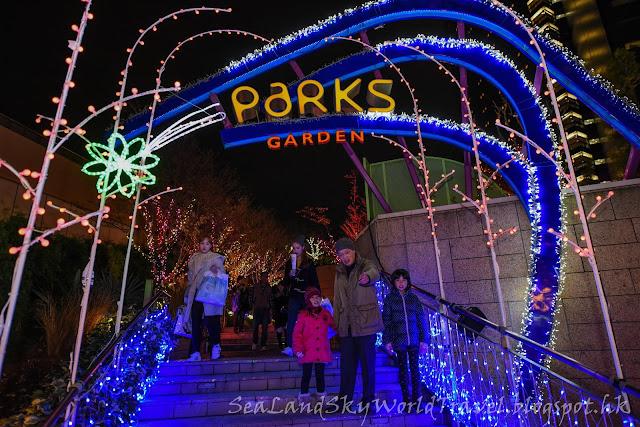 難波park聖誕燈飾
