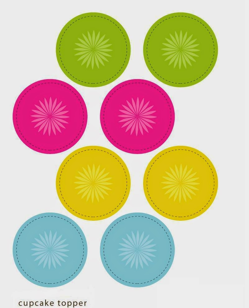Colors: Free Printable Cupcake Toppers and Wrappers.