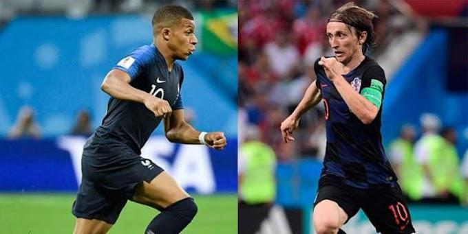 Mbappé e Modric buscam glória na final da Copa entre França e Croácia
