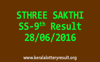 STHREE SAKTHI Lottery SS 9 Result 28-6-2016