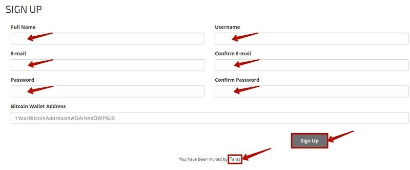Регистрация в Bit Expander LTD 2