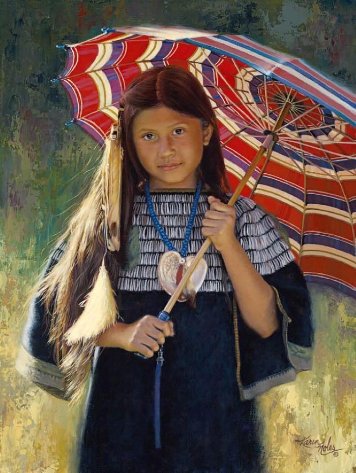 Картины об индейцах. Karen Noles 5