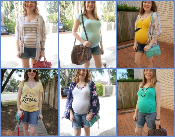 AwayFromBlue | Jeanswest Maternity Denim shorts summer second trimester outfit ideas