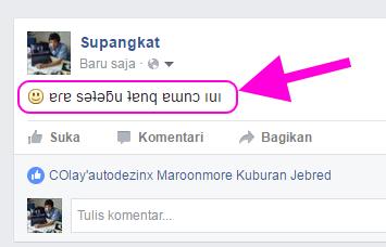 status facebook terbalik