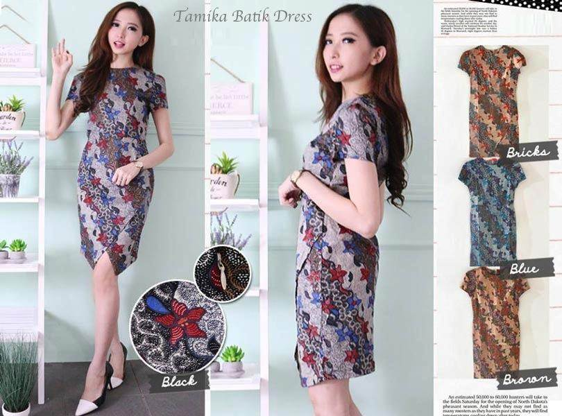 Jual Baju Batik Tamika Batik Dress - 12604