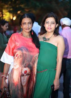 Artist Anjanna Kuthiala with Shahana Mookerjea