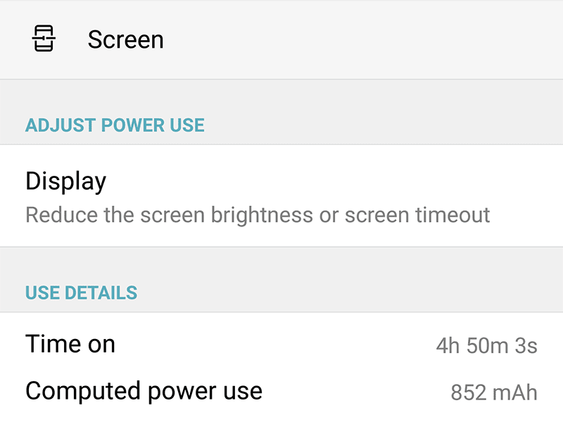 Great battery performance