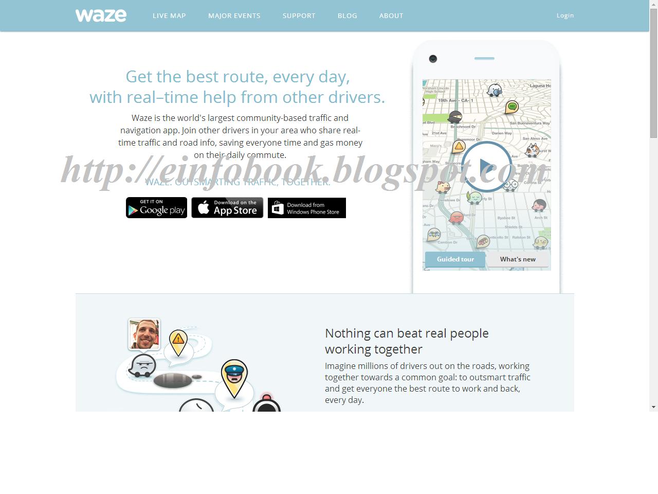 E info Book Google waze