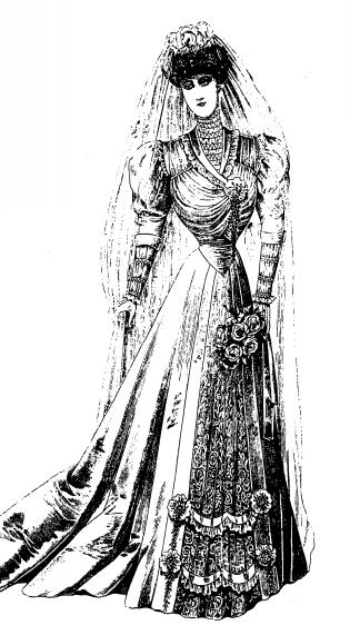 старинное подвенечное платье
