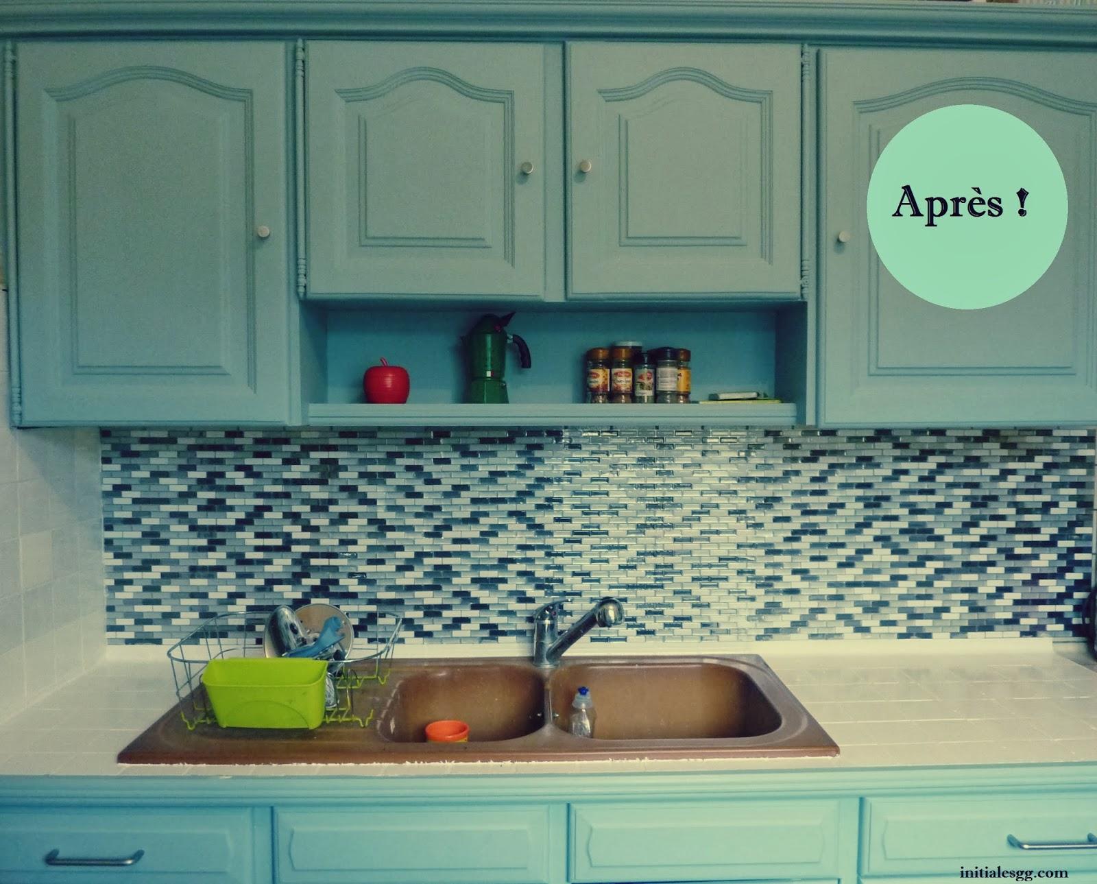 avant apr s r nover sa cuisine en 2 week end initiales gg. Black Bedroom Furniture Sets. Home Design Ideas