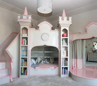 ห้องนอนเด็กตกแต่งเหมือนปราสาท