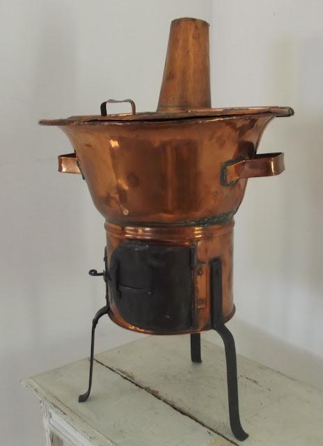 Antique primitive european french washing machine copper for Ustensiles de cuisine en cuivre