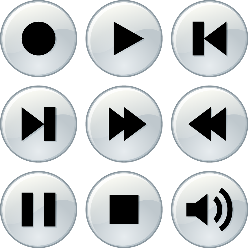 music player buttons color download svg eps png psd ai