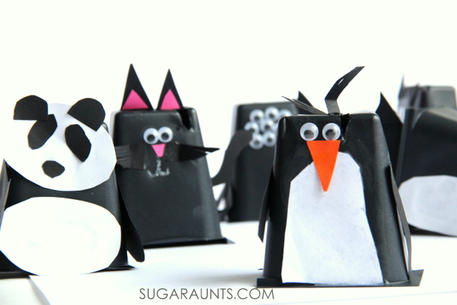 Cutest animal puppets made from recycled seedling planters