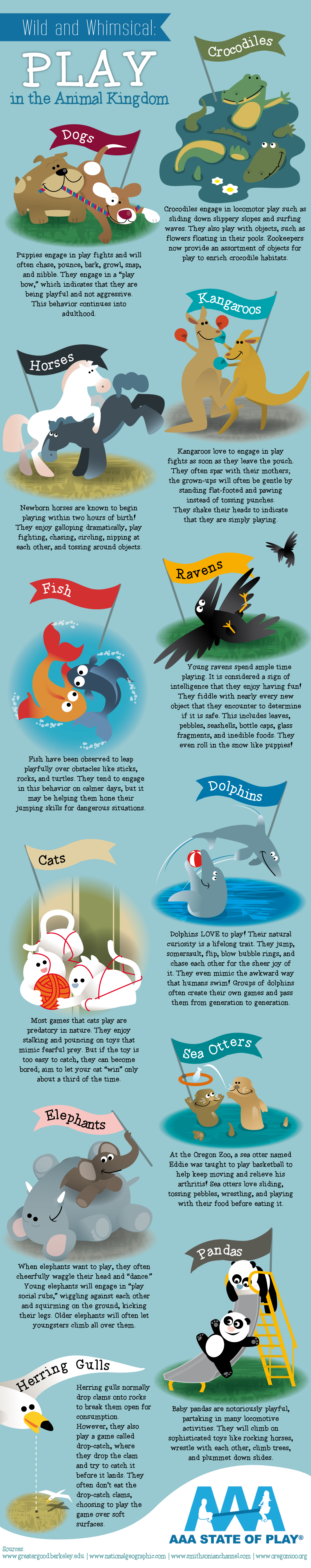 Wild and Whimsical: Play in the Animal Kingdom #infographic