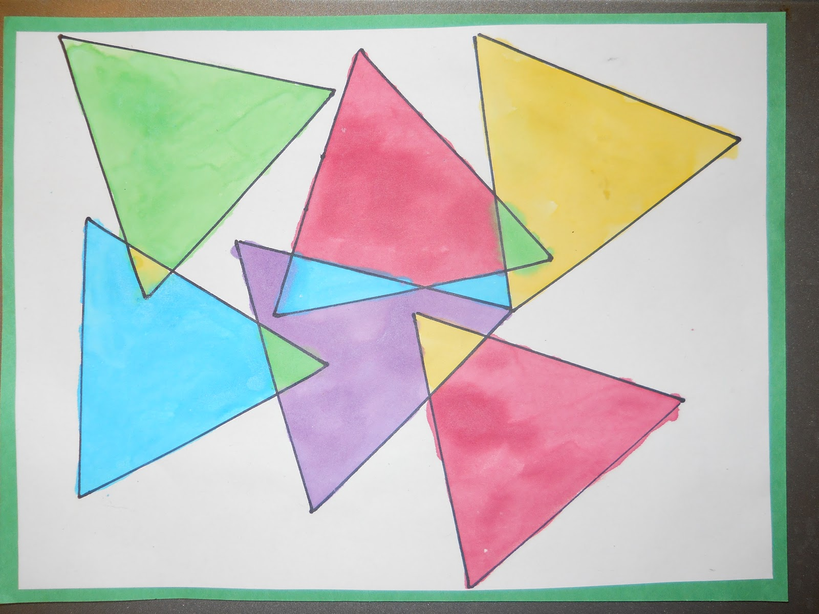 Mrs. T's First Grade Class: Triangles within Triangles - photo#50