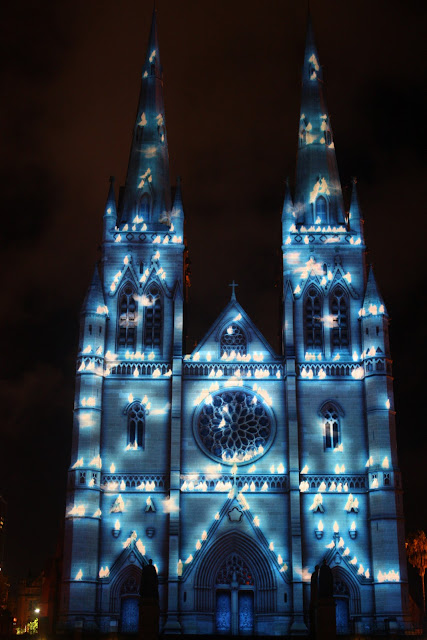 Sydney - City and Suburbs: St Mary's Cathedral, Lights of ...