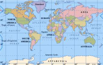The Next Map Below Shows An Overall Picture Of Usa To Other Countries World And Its Relation Europe Middle East Far