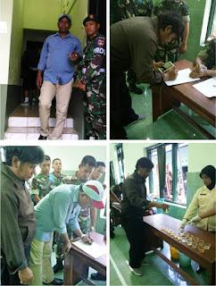 Pencegahan Narkoba Personil TNI Kodim 0723 Klaten Jalani Tes Urin