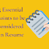5 Essential Points to be considered in Resume