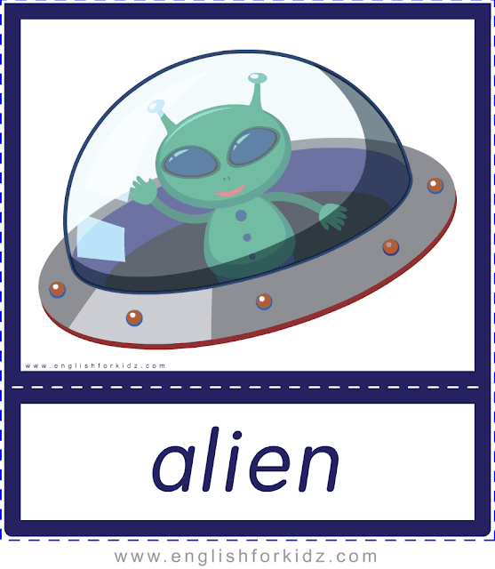 Alien - Printable Halloween flashcards