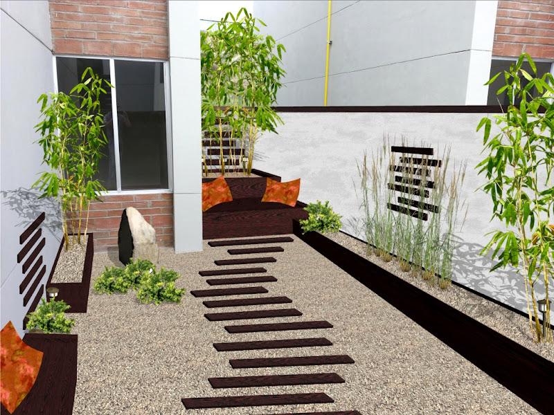 terrazas decoracion con piedras ideas