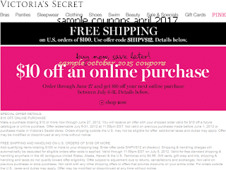 Victoria's Secret coupons for april 2017