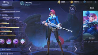 Build Item Lesley Mobile Legends