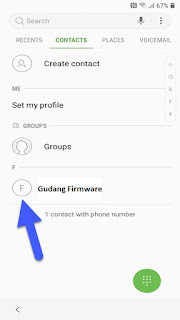 Swype to the contacts list  and click on the contact you added