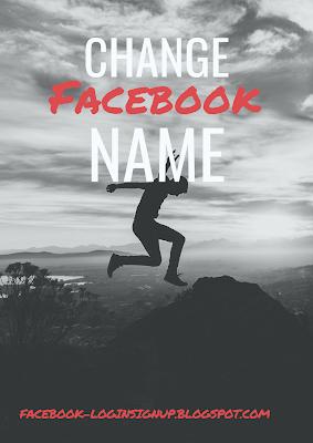 Change my name back on facebook