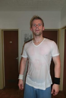 Sports Scientist Andreas Heller looking pumped up after a great workout