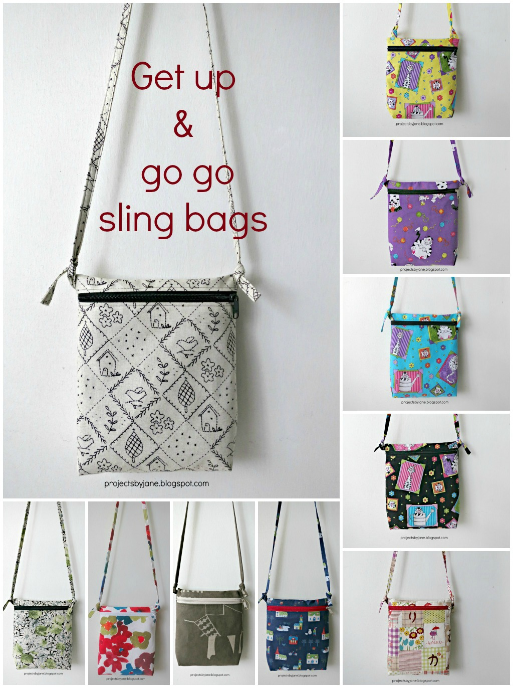 I have sling bags coming out of my butt | Projects by Jane