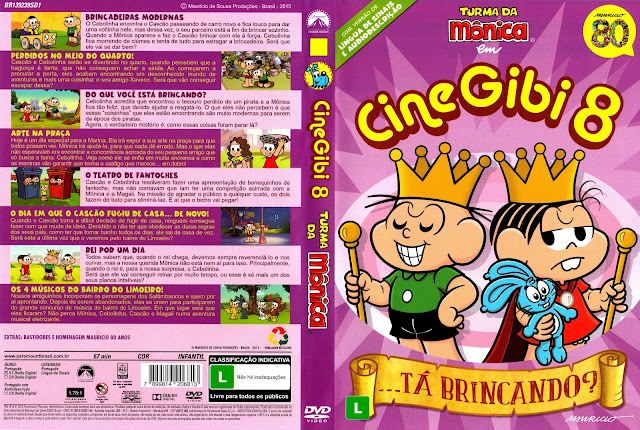Capa DVD Turma da Mônica em Cine Gibi 8